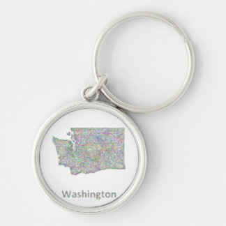 Washington map key ring