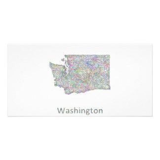 Washington map photo cards
