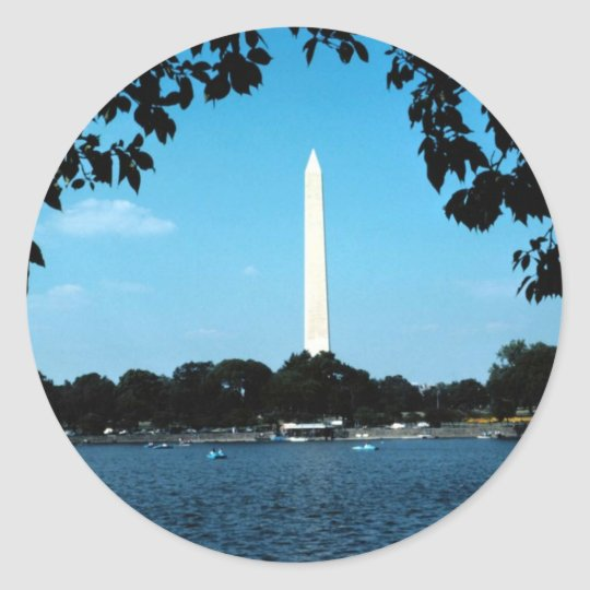 washington memorial,national capital washington dc classic round sticker
