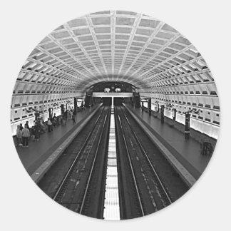 Washington Metro Round Sticker