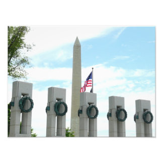 Washington Monument and WWII Memorial in DC Art Photo