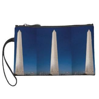 Washington Monument at Dusk Wristlet Clutches