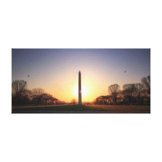 Washington Monument at Sunset Canvas Print