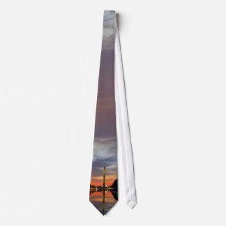 Washington Monument at Sunset Tie