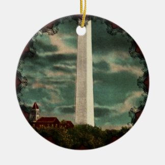 Washington Monument by Night Ornament