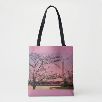 Washington Monument Cherry Blossom Festival Tote Bag