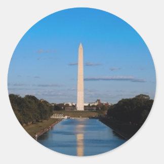 Washington Monument Classic Round Sticker