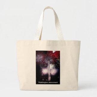 Washington Monument Fireworks Tote Bag
