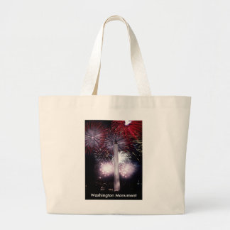 Washington Monument Fireworks Jumbo Tote Bag