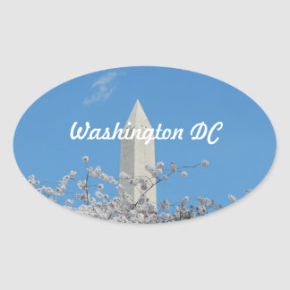 Washington Monument in Spring Oval Sticker