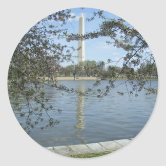 Washington Monument in Spring Stickers