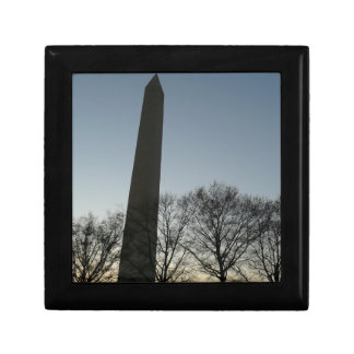 Washington Monument in Winter II DC Travel Photo Gift Box