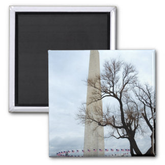 Washington Monument in Winter Magnet