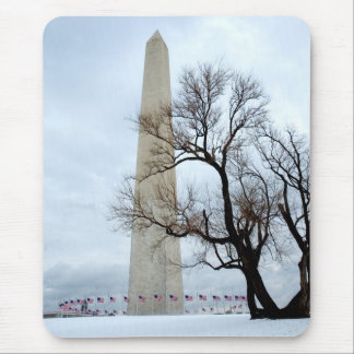 Washington Monument in Winter Mouse Mat