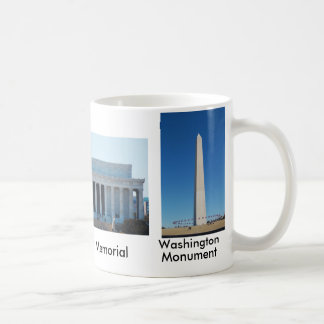 Washington Monument, Lincoln & Jefferson Memorials Coffee Mug