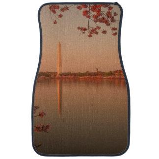 Washington Monument Sakura at sunset. Car Mat