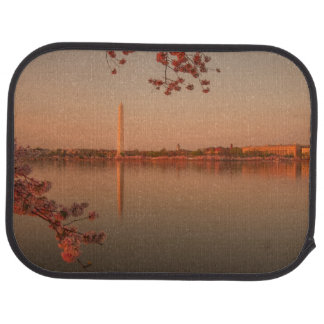 Washington Monument Sakura at sunset. Car Mat
