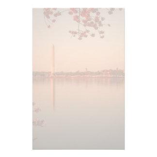 Washington Monument Sakura at sunset. Customized Stationery
