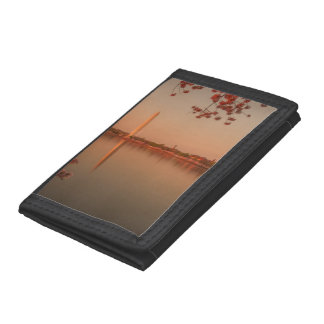 Washington Monument Sakura at sunset. Tri-fold Wallet