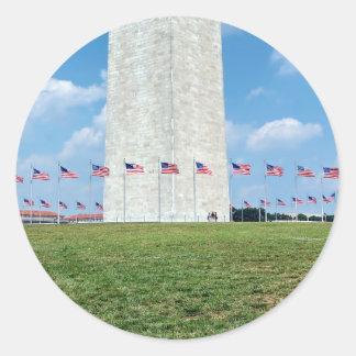 Washington Monument Round Sticker