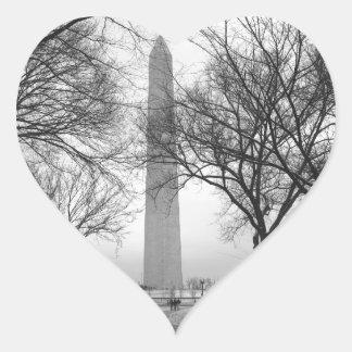 Washington Monument Heart Stickers