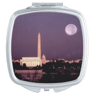 Washington Monument, the Capitol and Jefferson Mirror For Makeup