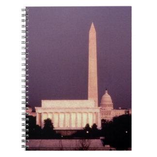 Washington Monument, the Capitol and Jefferson Notebooks