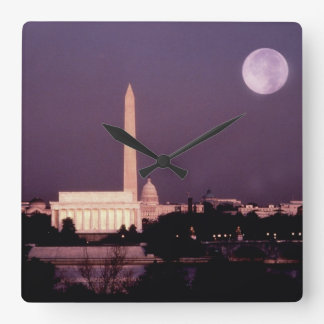 Washington Monument, the Capitol and Jefferson Square Wall Clock