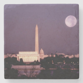 Washington Monument, the Capitol and Jefferson Stone Coaster