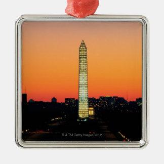 Washington Monument Under Restoration at Sunset Christmas Ornament