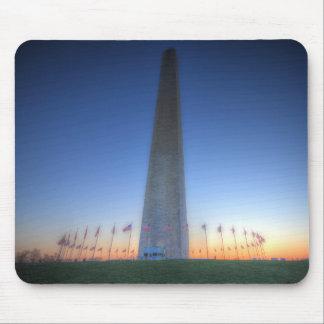 Washington Monument with Orange Sunset Mouse Pad