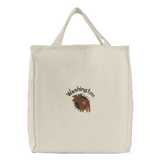 Washington Moose Embroidered Bag