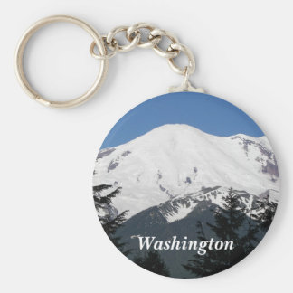 Washington Mount Rainier Photo Key Ring