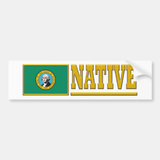 Washington Native Bumper Sticker