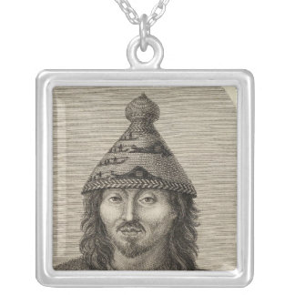 Washington, Neah Bay illustration View Silver Plated Necklace