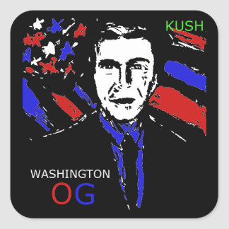 WASHINGTON OG KUSH SQUARE STICKER