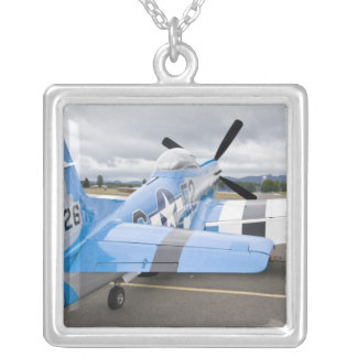 Washington, Olympia,  military airshow. 3 Silver Plated Necklace