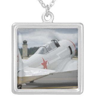 Washington, Olympia, military airshow. 6 Square Pendant Necklace