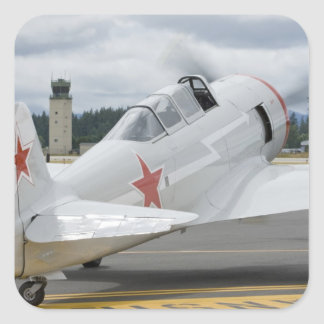 Washington, Olympia, military airshow. 6 Square Sticker