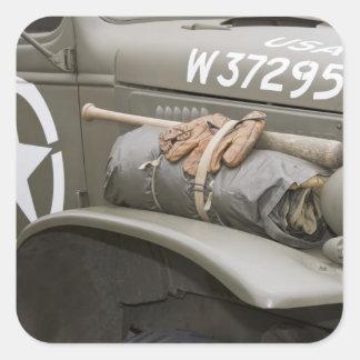 Washington, Olympia, military airshow. 7 Square Sticker