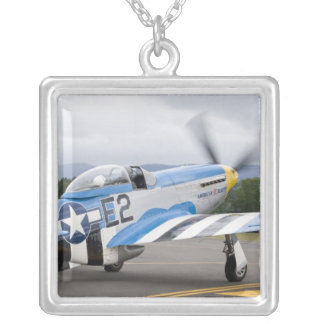 Washington, Olympia,  military airshow. Square Pendant Necklace