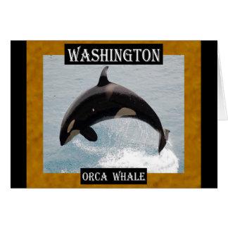 Washington Orca Whale Card
