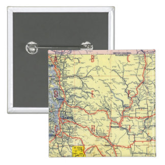 Washington, Oregon, Idaho 15 Cm Square Badge