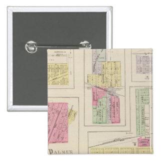 Washington, Palmer, Linn, Barnes, Morrow, Kansas 15 Cm Square Badge