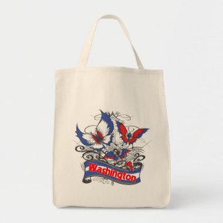 Washington Patriotism Butterfly Tote Bag