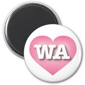 Washington Pink Fade Heart - Big Love 6 Cm Round Magnet