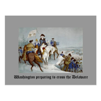 Washington preparing to cross the Delaware Postcard