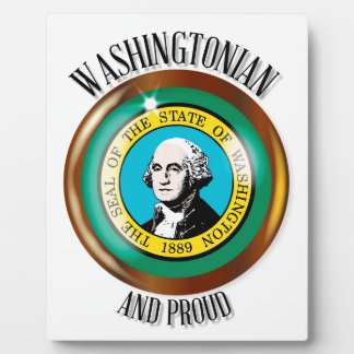 Washington Proud Flag Button Display Plaques