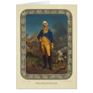 Washington Published by P.S. Duval in 1851 Greeting Card