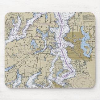 Washington Puget Sound Seattle Chart Mouse Pad